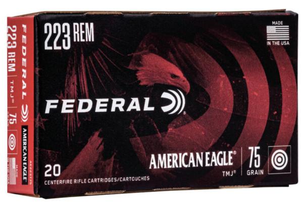 FEDERAL AMERICAN EAGLE .223 REM 75GR TMJ, VPE: 20STÜCK, #AE223T75