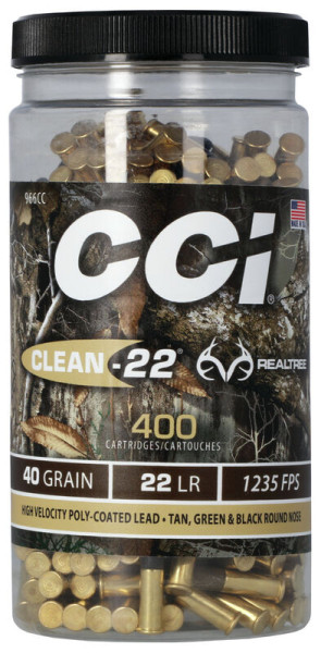 CCI CLEAN - 22, .22LR HV TARGET REALTREE 40GR LRN VPE: 400STÜCK, #00966CC